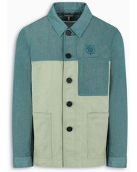 Loewe Eln Green Bicolor Workwear Jacket