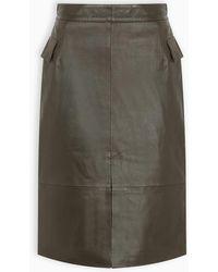 REMAIN Birger Christensen Leather Pencil Skirt - Multicolor