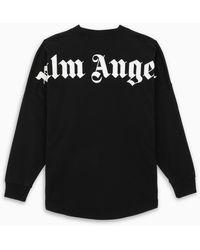 Palm Angels Black Logoed T-shirt