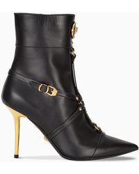 Versace Tribute Ankle Boots - Black