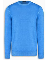 Drumohr Light-blue Wool Sweater