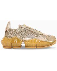 Jimmy Choo Sneaker Diamond glitter oro - Metallizzato