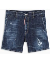 DSquared² Straight-fit Shorts - Blue