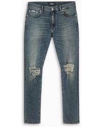 Represent Distressed Skinny Jeans - Blue
