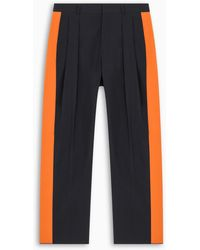 Valentino And Orange Contrast Side Panel Trousers - Blue