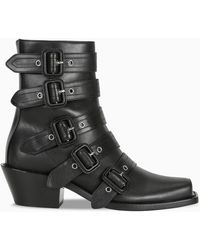 Burberry Peep Toe Albertina Boots - Black
