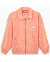 """032c Coral Logo Patch """"topos"""" Jacket - Red"""