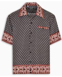 Dolce & Gabbana Hawaii Shirt In Bandana Print - Multicolour