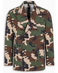 Gabriele Pasini Jetset Camouflage Double-breasted Jacket - Green