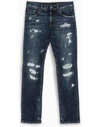 Dolce & Gabbana Jeans strappati blu
