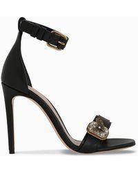 Alexander McQueen Black Sandals With Jewel