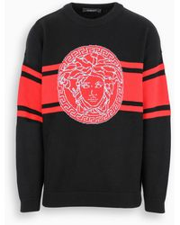 Versace - Maglia con logo Medusa in jacquard - Lyst