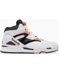 Reebok Sneaker Pump Omni Zone II bianca/arancio - Grigio