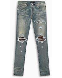 Amiri Jeans skinny Animal Print MX1 - Blu