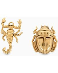 Saint Laurent Spilla in ottone dorato con scarafaggio e scorpione - Metallizzato