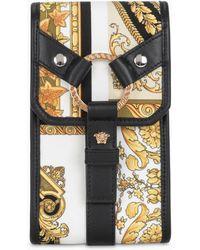 Versace Bondage Barocco Mosaic Print Mobile Phone Holder - Multicolour