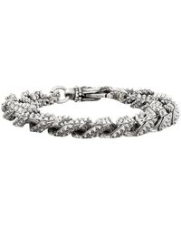 Emanuele Bicocchi Chain Bracelet In Silver - Metallic