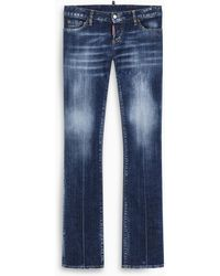 DSquared² Faded Wash Sharpeii Jeans - Blue