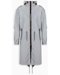 Givenchy Hooded Drawstring-waist Parka - Grey