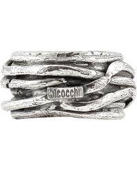 Emanuele Bicocchi Anello Multi Wire in argento - Metallizzato