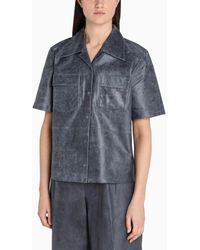REMAIN Birger Christensen Leather Siena Shirt - Grey