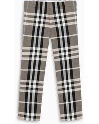 Burberry Tartan Tailored Pants - Multicolor