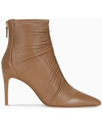 Alexandre Birman Brown Susanna 85 Ankle Boot - Natural