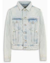 Off-White c/o Virgil Abloh Tm Bleached Denim Jacket - Blue