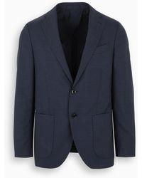 Gabriele Pasini Blue Checked Single-breasted Blazer
