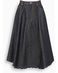 Loewe Denim Pleated Skirt - Blue