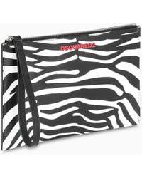 DSquared² Zebra-print Leather Pouch - Multicolor