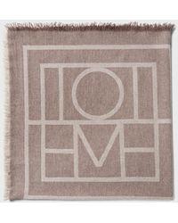 Totême  Beige Monogram Como Scarf - Natural