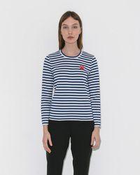 Play Comme des Garçons - Play Striped Long Sleeve - Lyst