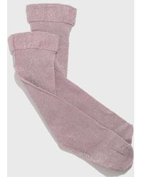 The Great Eros - Pink Lurex Socks - Lyst