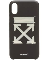 Off-White c/o Virgil Abloh Cover iPhone XS Tape Arrows - Nero