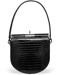 GU_DE Demilune Leather Shoulder Bag - Black