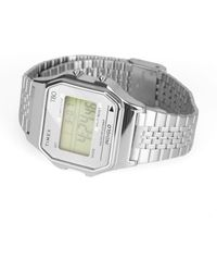 Timex T80 34mm Silver Digital Watch - Metallic