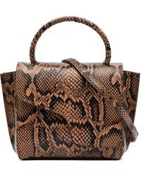 Atp Atelier Montalcino Python Bag - Brown