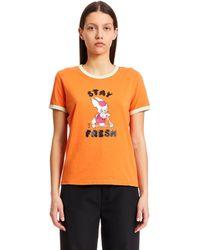 Marc Jacobs Orange Cotton T-shirt