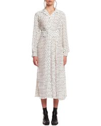ROTATE BIRGER CHRISTENSEN - Polka Dot Pleated Dress - Lyst