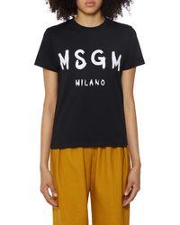 MSGM T-Shirt Icon - Nero