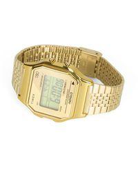 Timex T80 34mm Gold Digital Watch - Metallic