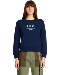 A.P.C. Tina Blue Cotton Sweatshirt