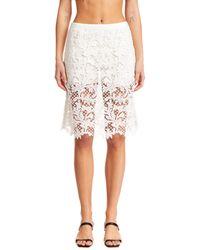 Sacai Layered Lace Skirt - White
