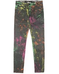 Marcelo Burlon Over-dye Skinny Jeans - Multicolor
