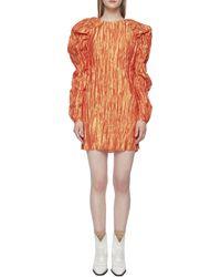 ROTATE BIRGER CHRISTENSEN Ruched Mini Dress - Orange