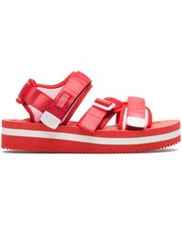 Suicoke Kisee-vpo Red High Sandals