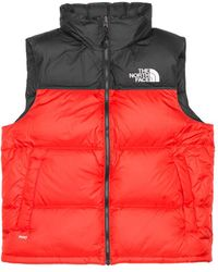 The North Face Nylon M1996 Retro Nuptse Vest - Red