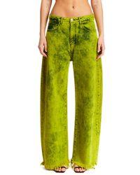 Marques'Almeida Lime Green Denim Jeans