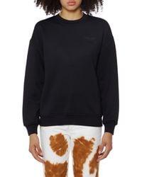 Courreges Black Cotton Logo Sweatshirt